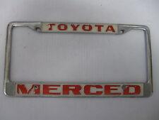 TOYOTA MERCED CA.  Dealership Metal License Plate Frame holder tag