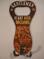 Mens Large Novelty Beer Brewing Bottle Opener Coat & Hat Hook for Man-Cave (h1)