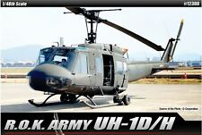 Academy 1/48 ROK UH-1D/H Helicopter Aero Plastic Model Kit Military Gift 12308