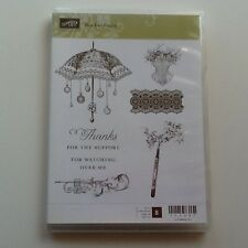 "Stampin Up Retired *** Rue Des Fleurs """"  Clear Mount Stamp Set"