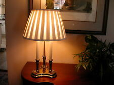 Vtg Stiffel Brass 3 Arm 3-Way Bouillotte Candlestick Table Lamp 22""