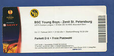 ORIG. TICKET EUROPA LEAGUE 2010/11 Young Boys Berna-ZENIT St. Petersburg!!!