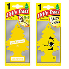 2 x Magic Tree Little Trees Car Air Freshener Scent VANILLORAMA + VERY VANILLA