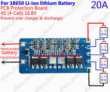 20A BMS Protection PCB Board for 4 packs 18650 Li-ion lithium Battery Cell 4S
