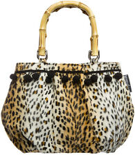 78067 Leopard Pom Pom Purse Sourpuss Rockabilly Leopard Psychobilly Pinup Retro