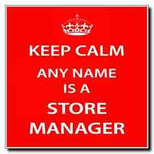 Store Manager Personalised Keep Calm Coaster