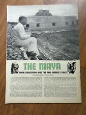1947 Article Photo Ad The MAYA Their Civilization Was the New World's Finest