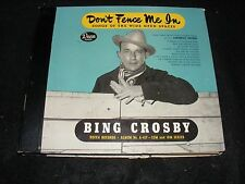 BING CROSBY Don't Fence Me In 6 78 record Set Western DECCA Cowboy Photo Cover