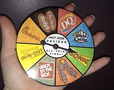 2 of 8 - FAST FOOD DECIDER - DQ WhtCastle Sonic Hardees JIB InNOut Chick Rallys