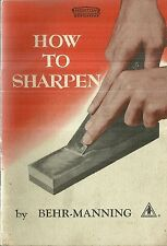How to Sharpen Behr-Manning Norton Abrasives 1950