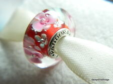 NEW! AUTHENTIC PANDORA CHARM MURANO GLASS FLOWER GARDEN #791652