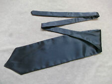 GUN METAL GREY CRAVAT BOYS SILKY RUCHE PAGE ASCOT SCRUNCHIE SINGLE END 4-10