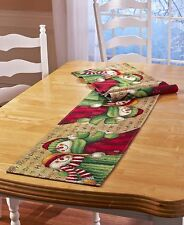 "Snowman/Snowmen Tapestry Holiday Christmas Winter Table Runner 72"" NEW"