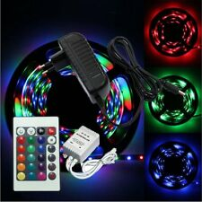 5M 3528 RGB 300 Led SMD Flexible Light Strip Lamp+24 key IR+12V 2A Power Supply