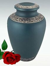 Cremation Urn for Funeral, Burial or Scattering - Blue - Large / Adult Size