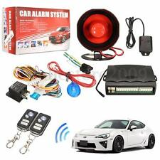 12V Car Alarm Protection Security System Keyless Entry Siren Remote Control Kit