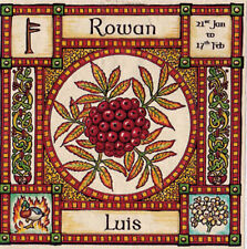 ROWAN TREE GREETING CARD 21st Jan - 17th Feb CELTIC PAGAN Birthday OGHAM WICCAN