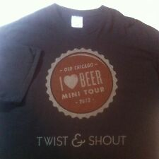 Old Chicago I LOVE Beer T-shirt SIZE XL Bottlecap BROWN NEW Brew Bar Tee