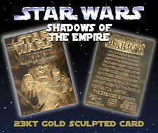 "STAR WAR ""SHADOWS OF THE EMPIRE"" 23K GOLD CARD LIMITED EDITION OF 10000"