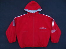 Vintage Adidas Trefoil Parka Jacket Size XL Red Soccer Coat Winter Palace