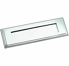 Polished Chrome Edwardian Style Stepped Edge Letter Plate / Flap (BC10)