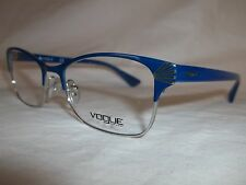 VOGUE EYE GLASSES FRAME VO4009 5016 ELECTRIC BLUE SILVER 52-18-140 NEW AUTHENTIC
