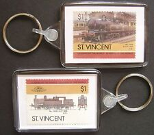 1889 Lancashire & Yorkshire Railway No.1008 Train Stamp Keyring (Loco 100)
