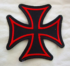 Iron Cross EMROIDERED 3 INCH  IRON ON MC  BIKER PATCH