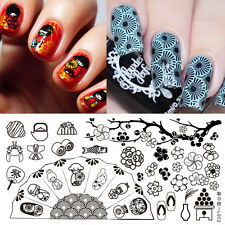 BORN PRETTY Rectangle Nail Art Stamping Plate  Image Template L002 Flower Design