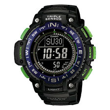 New Casio Men's SGW-1000-2BCF Triple Sensor Digital Display Quartz Black Watch