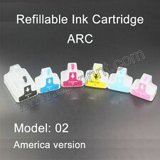 HP02 Refillable ink Cartridges for Photosmart 8250 3110 D6160 D7160 D7260 C5180