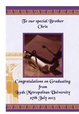 Congratulazioni laurea a5 carta personalizzata Università Laurea Fratello Sorella