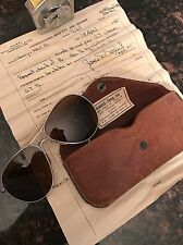 Vintage Rare American Optical Co Aviator Sunglasses Pilot WWII 1945 US Army