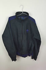 Vintage athletic sports rare adidas denim bomber veste survêtement top vgc uk m