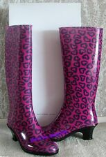 New From SAKS $225 MARC JACOBS 10/40 Made In Italy Multi-Heart Rain Boots Shoes