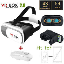 VR Headset Virtual Reality VR BOX Goggles 3D Glasses iPhone Cardboard Remote NEW
