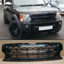 LAND ROVER DISCOVERY 3 04 - 09 FRONT GRILLE BLACK DISCOVERY 4 STYLE UPGRADE UK