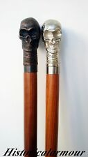 NEW Vintage CANE Antique SKULL HEAD Victorian WALKING STICK X-MAS GIFT OF 2 PCS