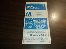 APRIL 1977 CONRAIL/MTA NORTH WHITE PLAINS, NY OFFICIAL TIME TABLE