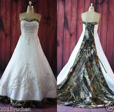 Camouflage A-Line Wedding Dresses Embroidery Camo Ball Gown Bridal Gowns Custom