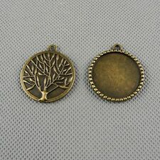 1x A3225 Jewelry Making Pendant Vintage Diy Tree Sign Setting Cabochon Frame