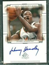 Johnny Hemsley Basketball Auto 2000-01 Upper Deck '00 Signature Autograph Signed