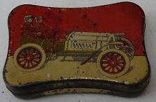 ancienne boite tôle lithographiée aiguilles gramophone décor TACOT
