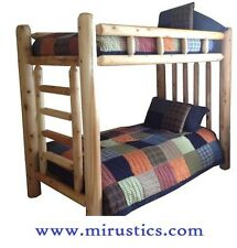 Rustic Cedar Log Bunk Bed Bunkbed - Twin/Twin - EASY ASSEMBLY