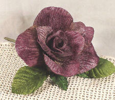 New Velvet Rose PLUM 3 in Millinery Bridal Flower Crowns Corsage Wedding Crafts