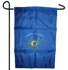 "KEY WEST FLORIDA CONCH REPUBLIC 1828 GARDEN BANNER/FLAG 12""X18"" SLEEVED POLY"