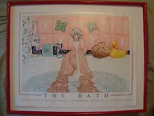 John Ramos Print THE BATH 25x20 1985 FRAMED Sherwood Gallery