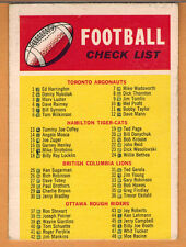 1970 , OPC , O-PEE-CHEE , CFL , CHECK LIST , CARD #110 , MARKED