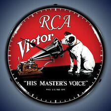 New old style RCA Victor His Masters Voice dog LIGHT UP advertising clock