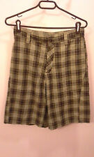 Green and Brown with blue stripes Plaid Hurley shorts size 28